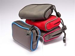 Джинсовый чехол горизонтальный (красный) для крепления и ношения  инсулиновой помпы Медтроник MiniMed 722 (754)  на поясе